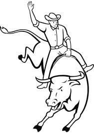 rodeo bull riding coloring free printable coloring pages