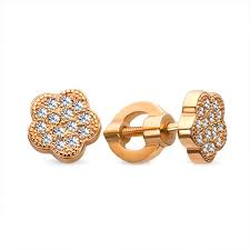 baby gold earrings buy baby gold stud earrings sparkling flower kids jewelry