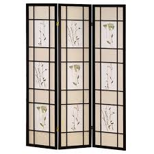 room dividers home decorators collection 5 83 ft cherry 3 panel room divider