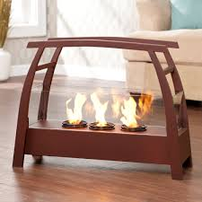 indoor fireplace ideas with portable wooden fireplace with gas for