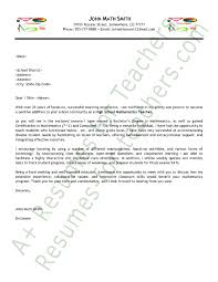 math teacher cover letter sample cover letters cover letter