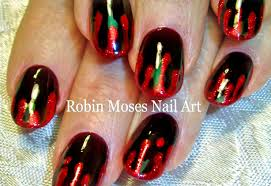 diy easy halloween nail art blood splatter nails design