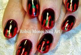 diy easy halloween nail art blood splatter nails design