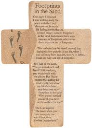 footprints in the sand gifts footprints in the sand wall cross christianbook