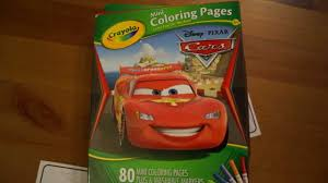 crayola mini coloring pages disney cars youtube