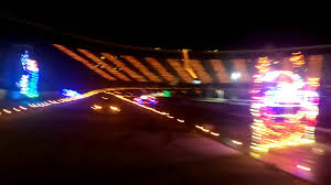 charlotte motor speedway christmas lights 2017 bristol motor speedway light show youtube