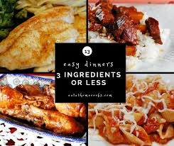 Simple Main Dish - 3 ingredient main dish recipes aka super simple suppers eat at