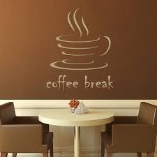 coffee break kitchen cafe wall decals wall art stickers transfers
