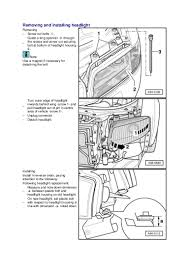 removing and installing headlight