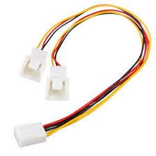 chassis fan connector splitter 3 pin pc case fan power splitter cable lead 1 female to 2 male 15cm