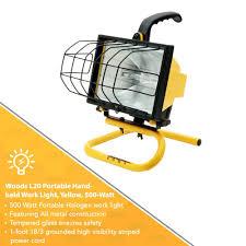woods portable work light yellow 500 watts amazon com