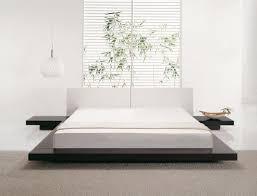 Japanese Bed Frames Modern Japanese Bed Frames In T Shape With Floating Side Tables
