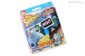 mr sketch scented washable markers movie night chisel tip 6