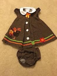 bonnie baby thanksgiving bonnie baby brown polka dot thanksgiving turkey jumper dress set