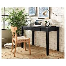 Writing Desk With Chair Home Office Wood Writing Computer Desk Black Saracina Home