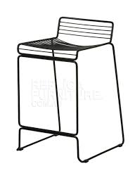 studio wire bar stool white metal furniture