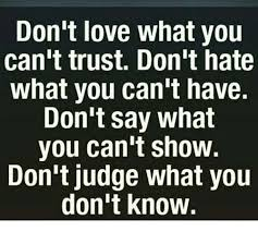 Say What You Meme - don t love what you can t trust don t hate what you can t have don