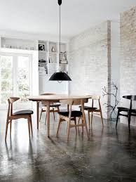 Urban Rustic Stained Concrete Exposed Brick Clean Lines White