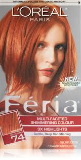 ginger hair color at home amazon com l oreal paris feria 74 deep copper copper shimmer