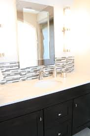Backsplash Bathroom Ideas by Mirror Overlapping Backsplash Bathroom Ideas Pinterest