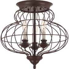 Flushmount Lighting Shop Ashley Harbour 15 In W Rustic Antique Bronze Ceiling Flush