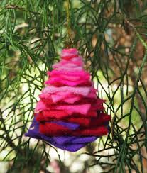 christmas tree ornament for kids to make coloured buttons