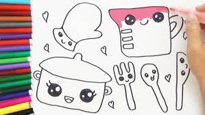 cute kitchen appliances rhshutterstockcom set cute kitchen drawing cute hand drawn kitchen