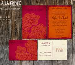 Wedding Invitations With Rsvp Cards Included Indian Style Wedding Invitation And Rsvp Cards For My
