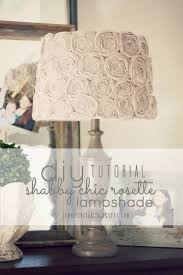 diy shabby chic rosette lamp shade simply ciani