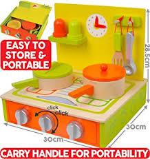 spielküche zubehör holz kinderküche spielküche aus holz portable 10 teiliges set mit