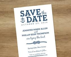 nautical save the date nautical save the date white and navy infinity knot rope