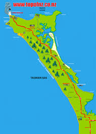 New Zealand Map Northland New Zealand Aupouri Peninsular Map