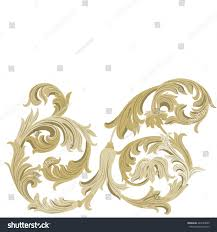 vintage golden classic ornament element acanthus stock vector