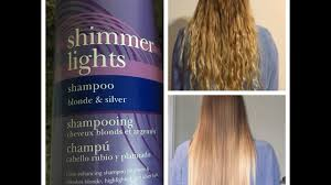 Clairol Shimmer Lights Purple Shoo Before And After Review Demo