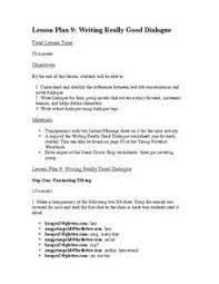 paragraph writing dialogue lesson plans u0026 worksheets