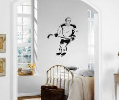 wall decals stickers home decor home furniture diy wall stickers vinyl decal ice hockey winter sports athlete ig1496