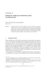 emerging wireless communication technologies pdf download available