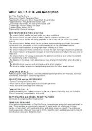 Example Of Chef Resume Sample Sous Chef Resume Resume Sample Resume Tandoori Chef Junior