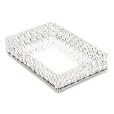 shimmer rectangular jeweled tray wholesale at koehler home decor