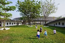 designboom green school vo trong nghia architects farming kindergarten vietnam designboom