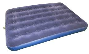heavy duty inflatable flocked double airbed mattress camping