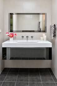 Contemporary Bathroom Mirrors by Awesome Contemporary Bathroom Mirrors With Feature Wall Clean Design