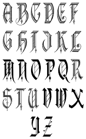 gangster old english letters image collections letter examples ideas