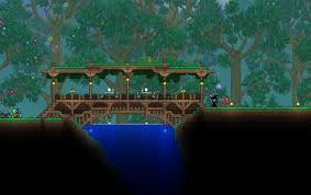 terraria wooden bridge by dontshitonthecountry terraria and