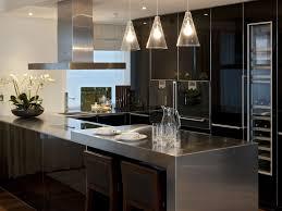kitchen cabinet stainless steel countertops backsplash dark glass door kitchen cabinet