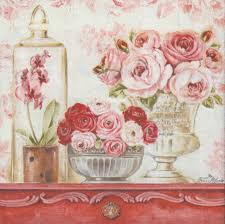 Shabby Chic Rose by Decoupage Paper Napkins Of Shabby Roses On A Mantle U2013 Chiarotino