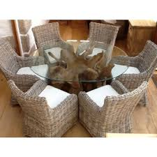 M X M Oval Teak Root  Donna Chairs Sustainable Furniture - Reclaimed teak dining table and chairs