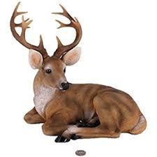 haoming deer lying outdoor garden statues small buck