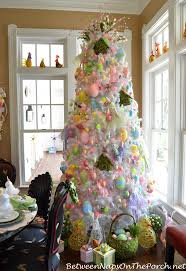 easter ornament tree easter table setting an easter decorated tree