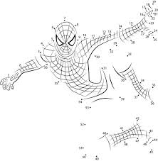 connect the dots spider man printable for kids u0026 adults free